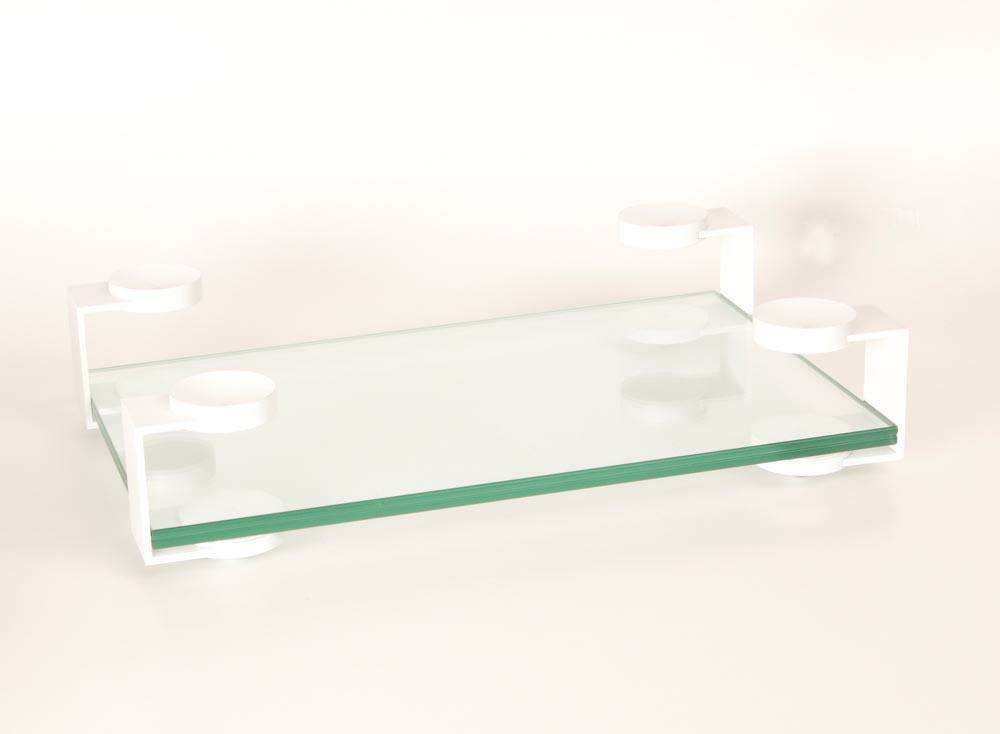 Audiolabor Glas Aluminium Rack Display weiß