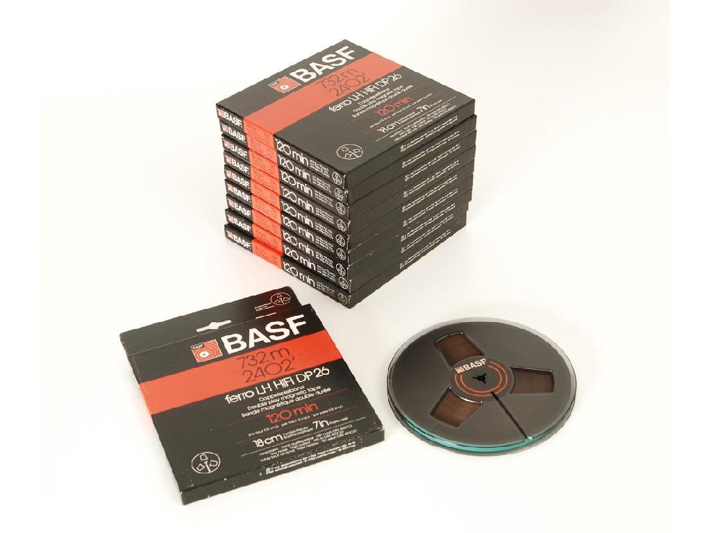 BASF DP26 18er DIN Tonbandspule Kunststoff mit Band 10er Set