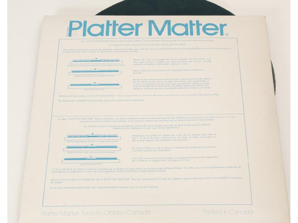 Platter Mat Plattenmatte