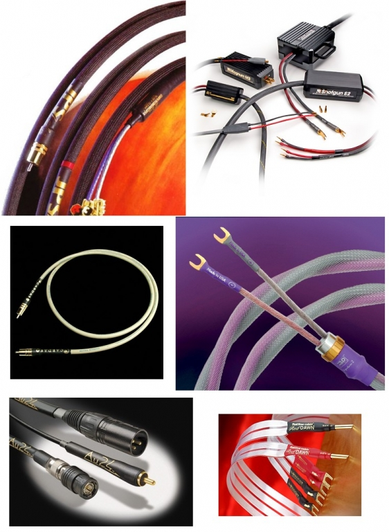MIT, NBS, Van Den Hul, SINE, Kimber, Nordost, Transparent cables