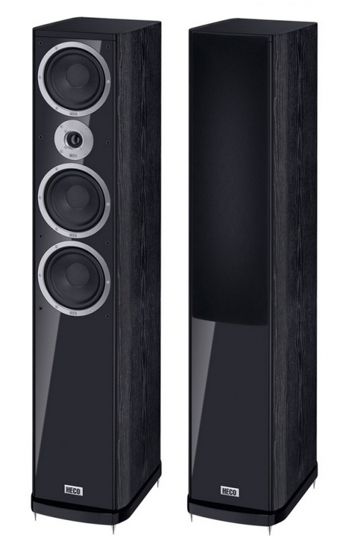 HECO Music Style 900 - High End 3-Wege-Bassreflex Standlautsprecher mit Doppelbass, Paar