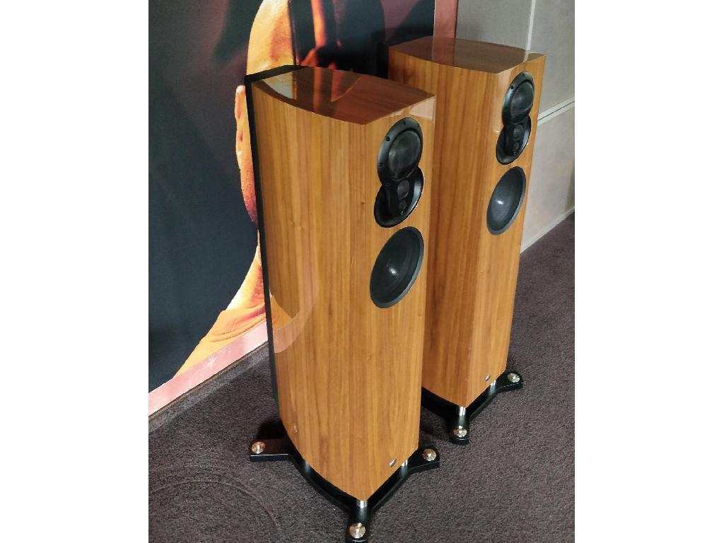 Akubarik Exakt Aktiv-Lautsprecher in Walnuß Hochglanz