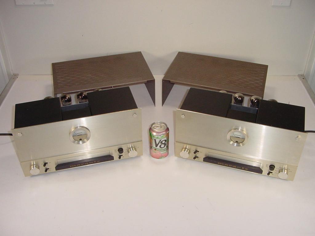 2 Vintage Marantz Model 9 EL34 Tube Monoblock Mono Matched Power Amplifier Pair