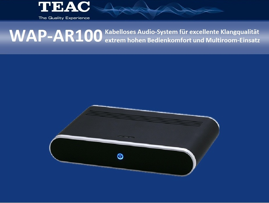 TEAC WAP-AR100  Wireless Audio-Receiver ohne Verstärker