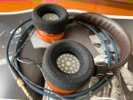 Grado 225 headphones customized with Cardas cable.