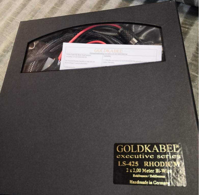 Goldkabel Executive Series LS-425 Rhodium, 2 x 2 Meter Bi-Wire