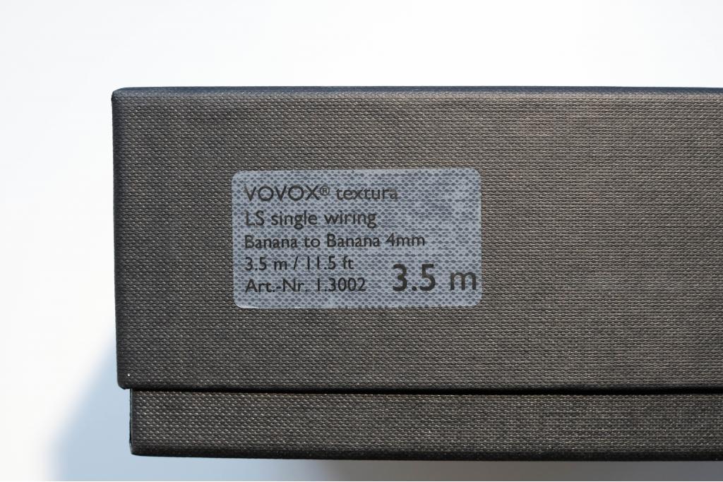 VOVOX textura LS single wiring (Paar) banana to banana 4mm / 3,5m