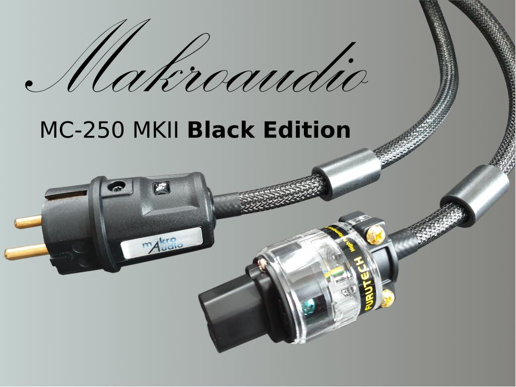 Makroaudio MC-250 MKII Black Edition Highend Netzkabel