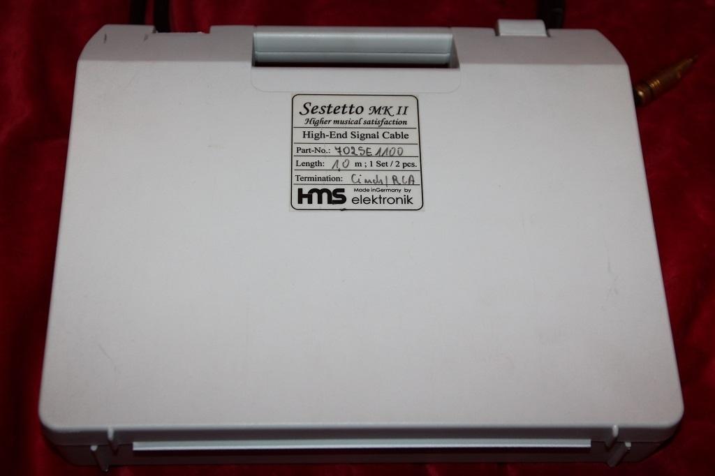Sestetto MKII RCA 1,0m mit Clearaudio RCA Steckern