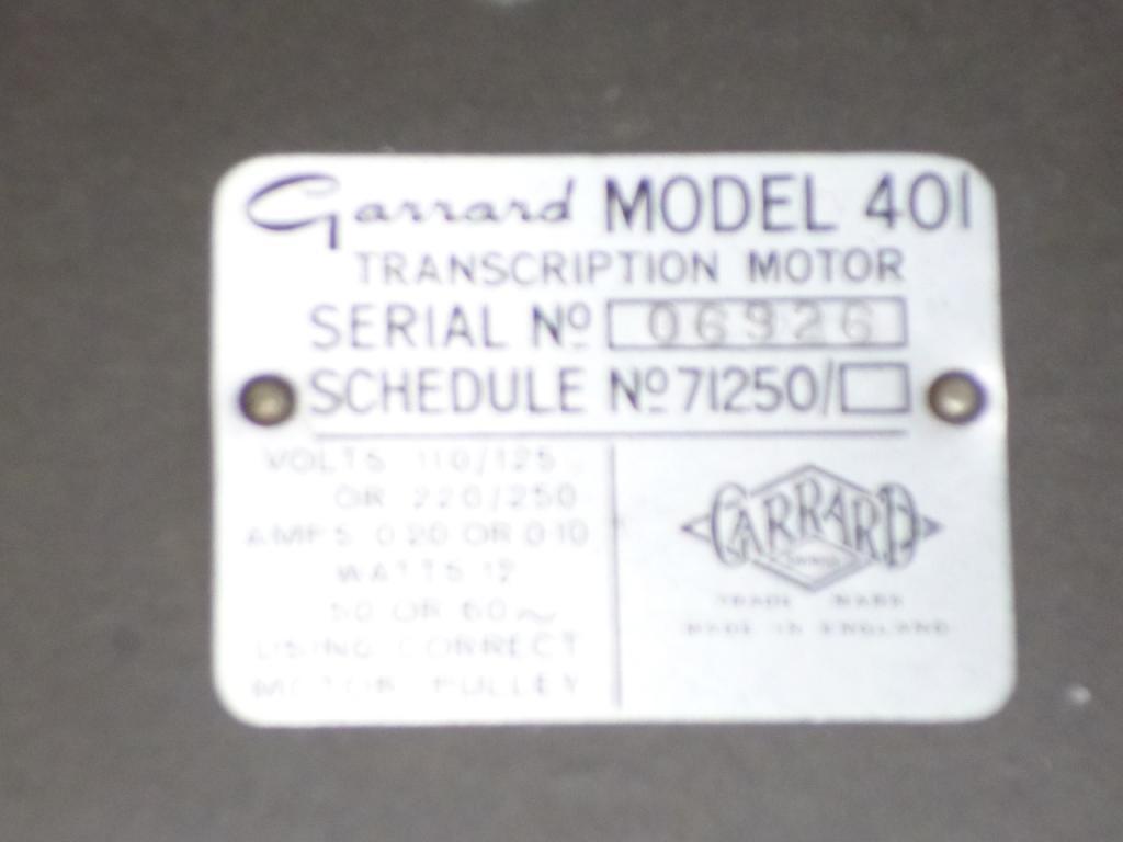 Garrard 401