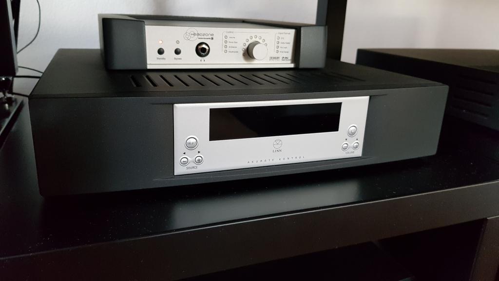 Linn Akurate Kontrol Vorverstärker mit Dolby Digital und hochwertigem Phone Pre