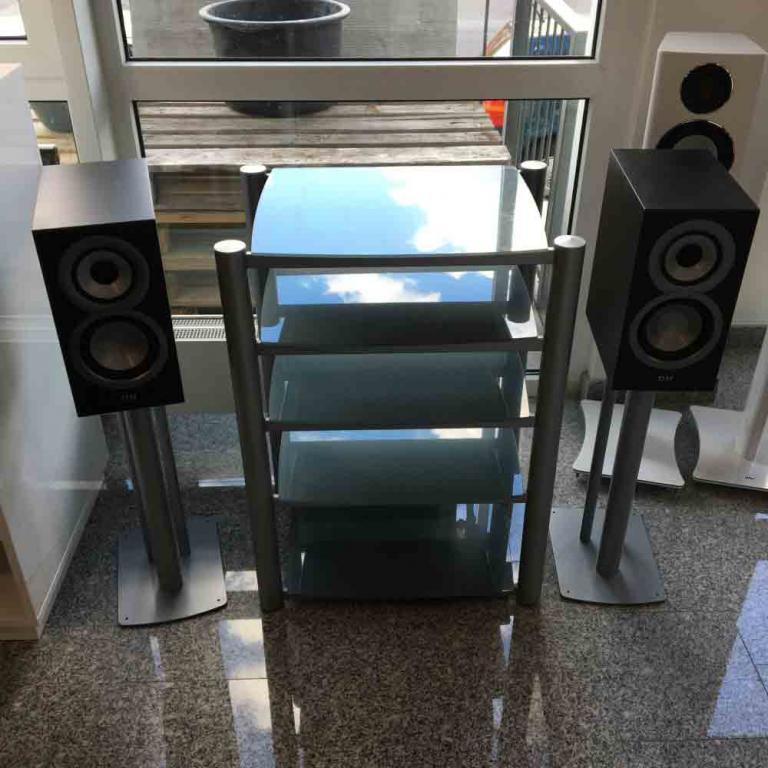 Soundstyle XS-105 Hifi Rack Möbel grau mit 5 Etagen