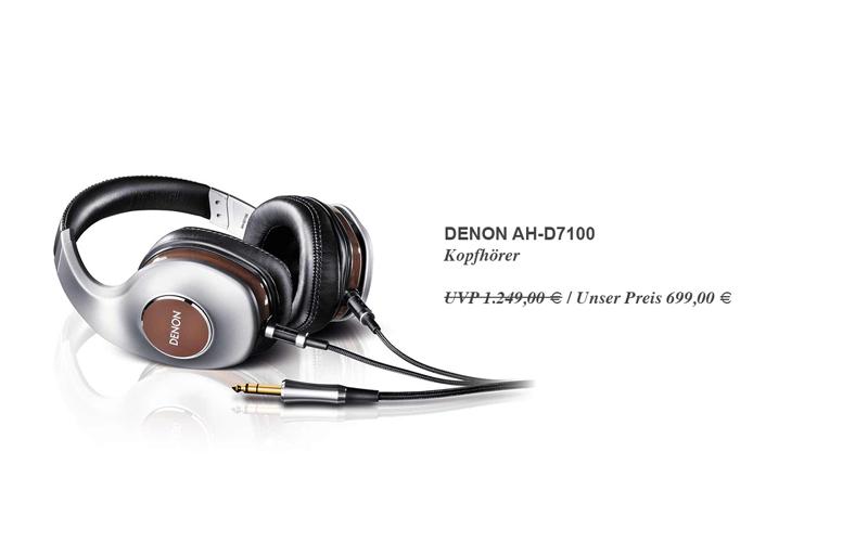 Denon AH-D7100 - Bei uns für sagenhaft günstige 699,00 € statt 1.249,00 € UVP