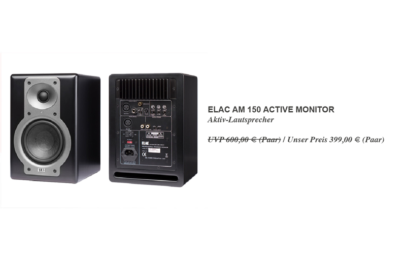 Elac AM 150 Active Monitor - Bei uns für sagenhaft günstige 399,00 € statt 600,00 € UVP