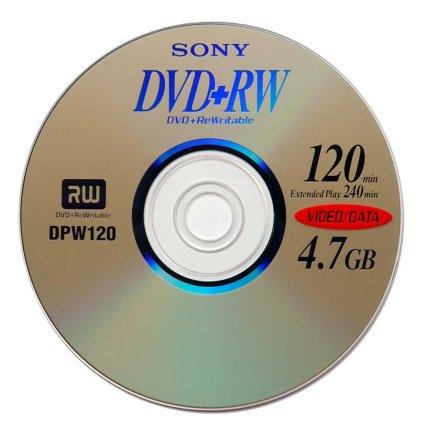 Mehrfach beschreibbare DVD+RW von Sony