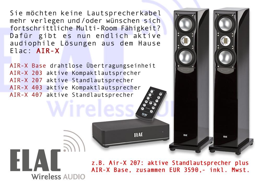 Aktive audiophile Wireless Lösung von Elac