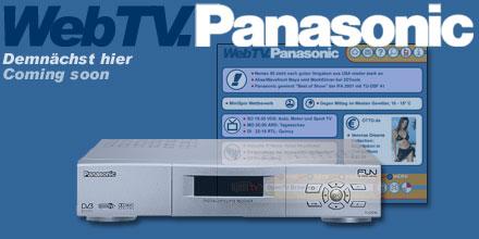 Panasonic demonstriert Internet-on-TV