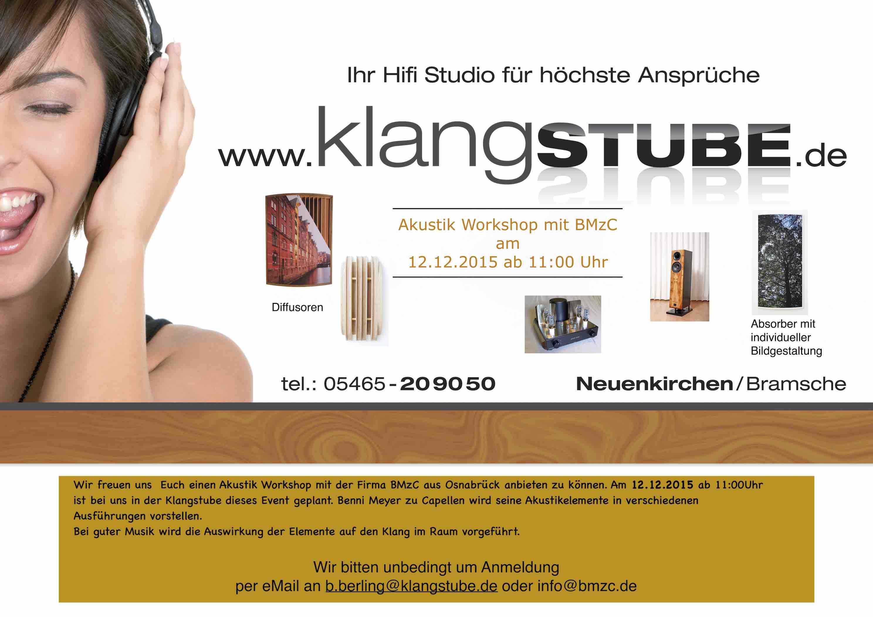 Event in der klangSTUBE am 12.12.2015 ab 11:00Uhr