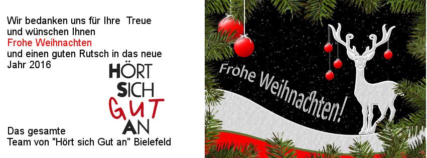 Frohe Weihnachten und einen guten Rutsch ins neue Jahr