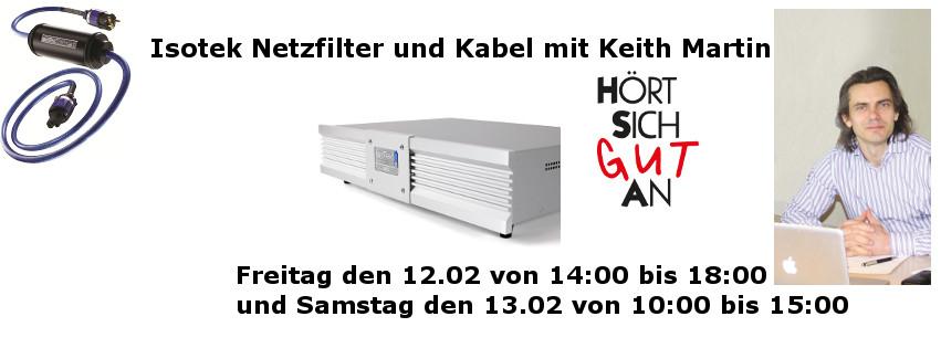 Isotek Event mit Keith Martin am 12.02. & 13.02.16 bei Hört sich Gut an Bielefeld