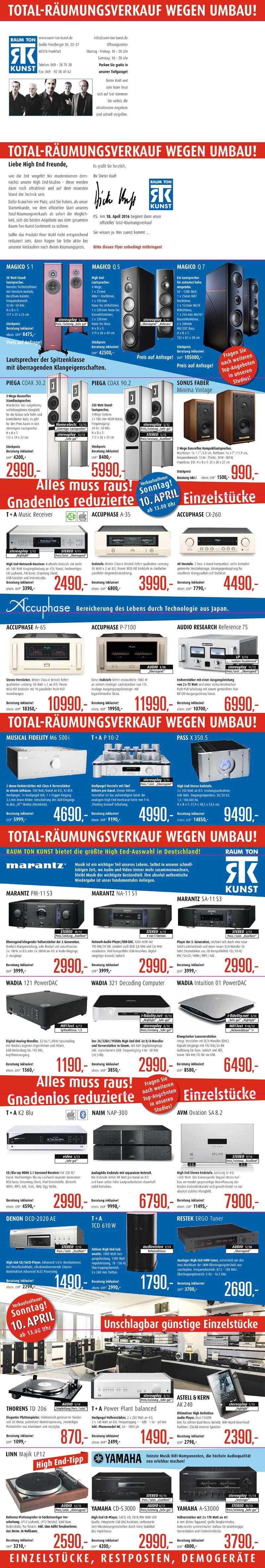 RTK///Total – Räumungsverkauf wegen Umbau
