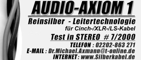 Reinsilberkabel Dr. Axmann Audiotechnik