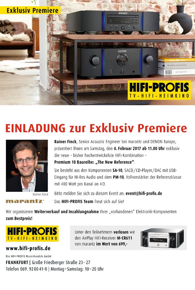 marantz Exlusiv Premiere 4.Feb.2017 /// HIFI PROFIS Frankfurt am Main