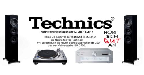 Technics Neuheiten noch vor der High End in München erleben Technics Event Banner