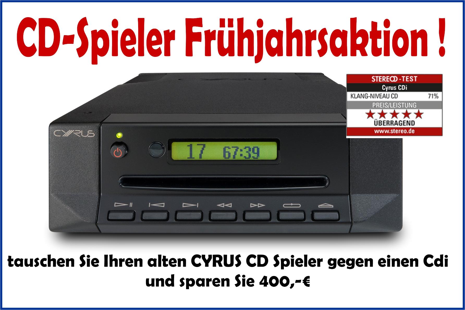CD Spieler Frühjahrsaktion von CYRUS
