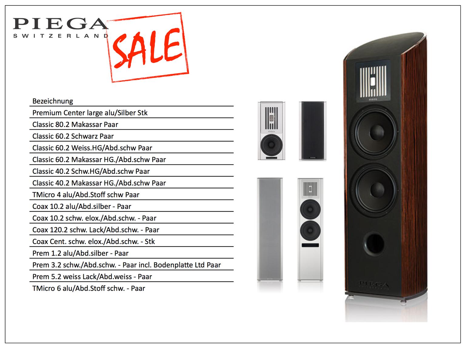 Piega Coax 10.2, 120,2, Classic- und Premium-Serie im Ausverkauf.
