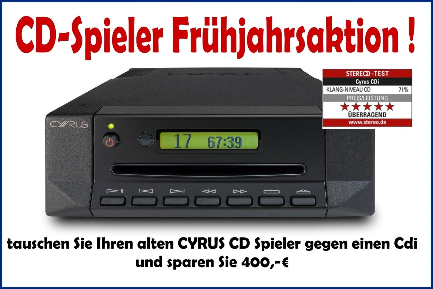 Endet bald - die CD Spieler Aktion von CYRUS!!!