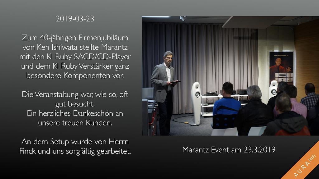 Marantz Event bei Aura Hifi