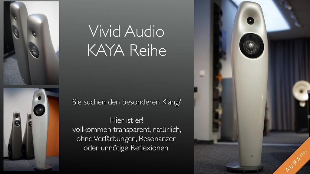 Vivid Audio Kaya Reihe neu bei Aura Hifi
