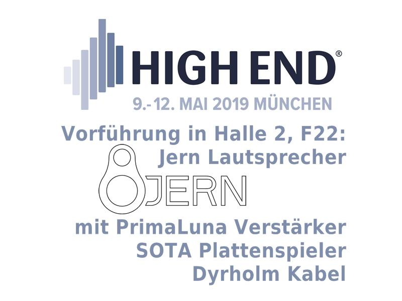 High End 2019 in München: Jern Lautsprecher in Halle 2, F22!