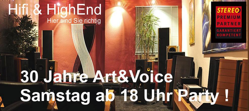 ART & VOICE wird 30 Jahre, Samstag Party !