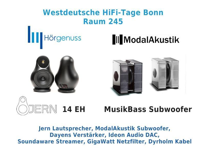 Westdeutsche HiFi-Tage Raum 245 - Hörgenuss & ModalAkustik