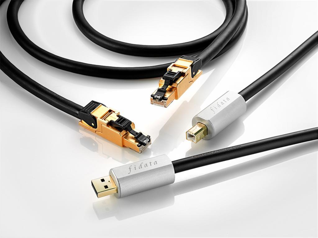 Fidata USB- und Ethernetkabel - Fidata HFU2 und Fidata HFLC