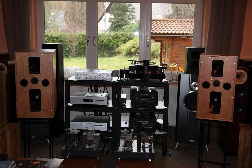Die neuen großen BBC Monitore Graham Audio LS 5/5 auf den NDHT in Hamburg...