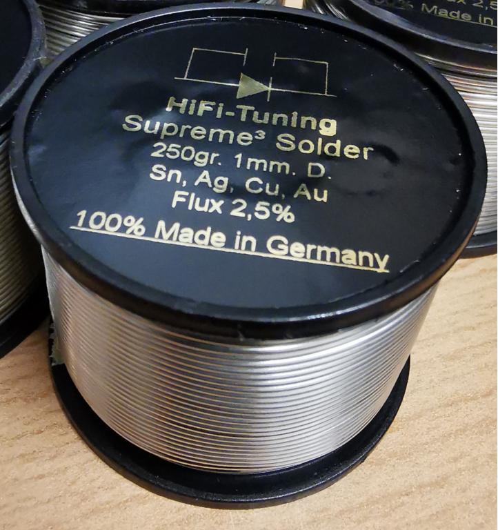 HiFi-Tuning's Supreme³ Lötzinn 100gr. & 250gr. 1mm. D.