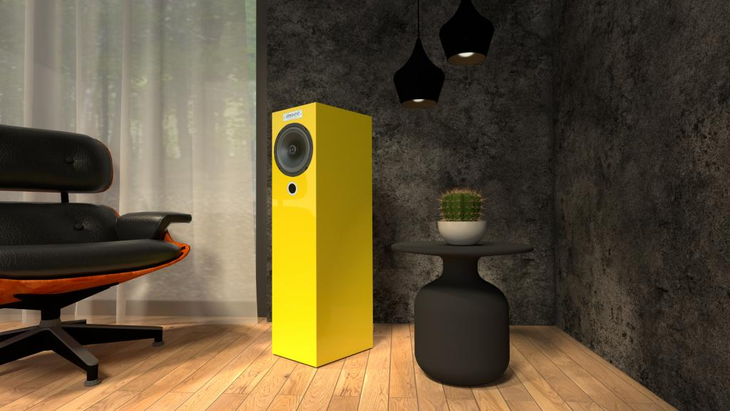 Neuer UBSOUND FEEL FL38 Gelb: handgefertigte italienische Premium-Lautsprecher
