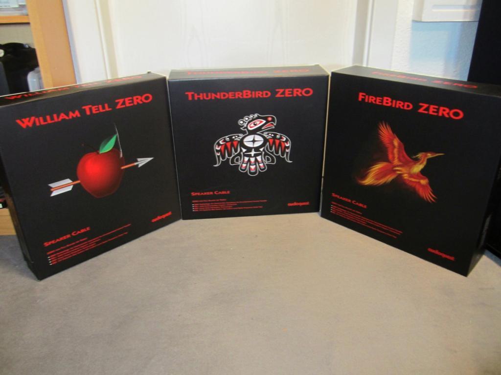 Audioquest William Tell, ThunderBird und FireBird