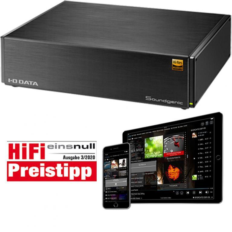 I-O DATA Soundgenic Network-Audioserver mit HDD oder SSD I-O DATA Soundgenic Network-Audioserver