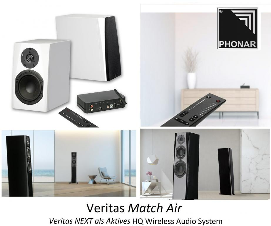 Umrüstung durch Phonar Akustik: Veritas NEXT wird zu Match & Match Air - Passiv wird zu Aktiv