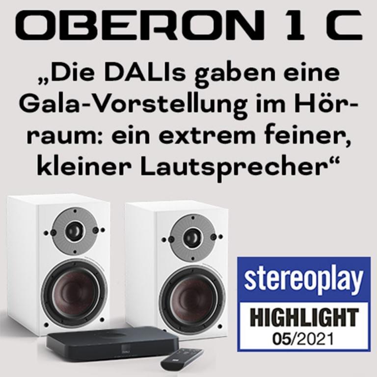 OBERON 1 C Aktivlautsprecher überzeugen die STEREOPLAY Redaktion
