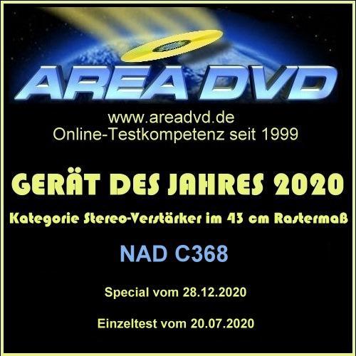 NAD C 368: Stereoverstärker des Jahres 2020 bei areadvd.de