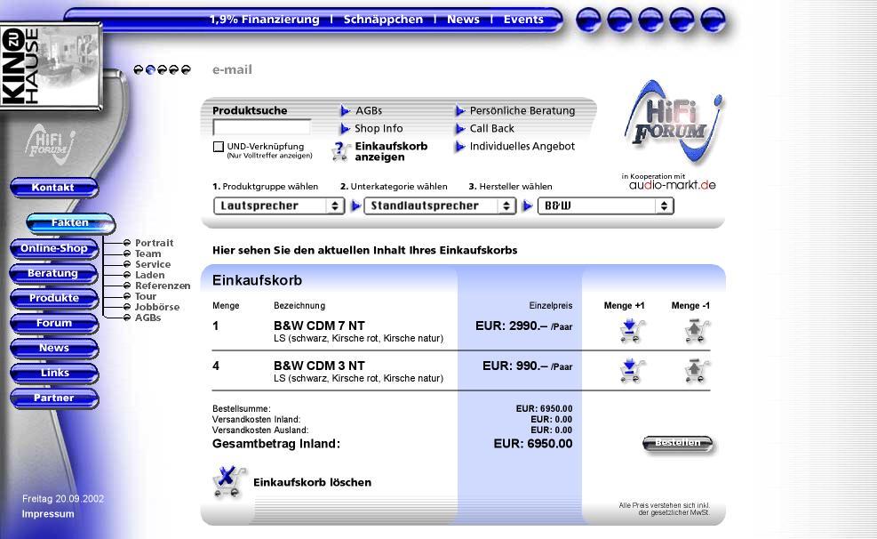 www.hififorum.de - High End Webshop, jetzt aktuallisiert