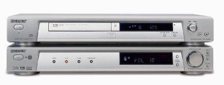 DVD-Player und Receiver von Sony  in superflacher Optik