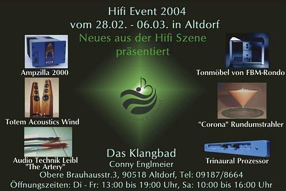 Hifi Event in Altdorf b. Nürnberg vom 28.2. - 6.3. - Weltpremiere